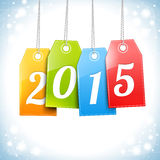 Happy New 2015 Year Greetings Card. Merry Christmas and Happy New 2015 Year Greetings Card Royalty Free Stock Image
