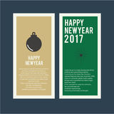 Happy new year greetings card set Royalty Free Stock Images