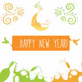 Happy new year greetings card Royalty Free Stock Image