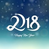 2018 Happy New Year Greetings Card. Vector template. Abstract icon Stock Photography
