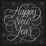 Happy New Year Greetings chalkboard Royalty Free Stock Photography