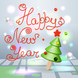 Happy New Year greetings 3d lettering greetings card stock illustration