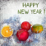 Happy New year greetings Stock Images
