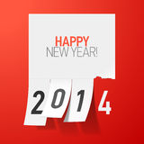 Happy New Year 2014 greetings. Illustration Royalty Free Stock Photography
