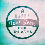 Happy New Year Greetings Vector Design Royalty Free Stock Photography