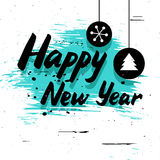 Happy New Year grunge card Stock Photography