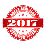 Happy New Year 2017 grunge red rubber stamp. Happy New Year 2017 grunge rubber stamp Royalty Free Stock Photo