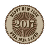 `Happy New Year 2017` grunge rubber stamp. Happy New Year 2017 grunge rubber stamp Stock Photo