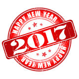 Happy New Year 2017 grunge rubber stamp. Happy New Year 2017 grunge rubber stamp label Stock Photo