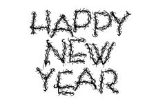 Happy New Year Grunge Royalty Free Stock Photography