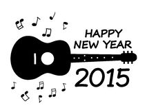 Happy New Year. 2015 with guitar illustration Stock Photo