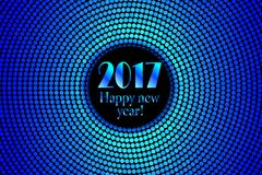 Happy new year 2017 halftone banner Royalty Free Stock Image