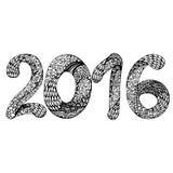 Happy New Year 2016.  Hand drawn inscription. Vector illustration. Happy New Year 2016.  Hand drawn inscription. Vector Royalty Free Stock Photos