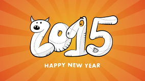 Happy new year 2015 hand drawn video background stock video footage