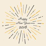 Happy New Year 2016. Hand drawn. Vintage style. Eps 10. Vector illustration. Happy New Year 2016. Hand drawn. Vintage style. Eps 10. Vector illustration royalty free illustration