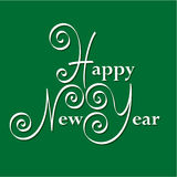 Happy new year hand lettering Royalty Free Stock Photo