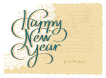 Happy New Year Hand Lettering Stock Images