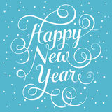 Happy New Year. Hand lettering Royalty Free Stock Photo