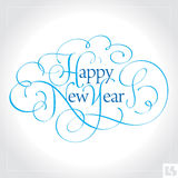 HAPPY NEW YEAR hand lettering (vector) Stock Photo