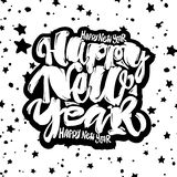 Happy New Year hand lettering banner. Stock Photography