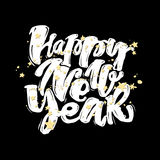 Happy New Year hand lettering banner. Stock Image