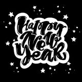 Happy New Year hand lettering banner. Stock Images
