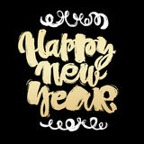 Happy New Year hand lettering banner. Stock Photo