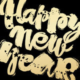 Happy New Year hand lettering banner. Royalty Free Stock Images