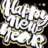 Happy New Year hand lettering banner. Royalty Free Stock Photos