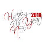 2018 Happy New Year hand lettering card background. 2018 Happy New Year hand lettering card or background royalty free illustration