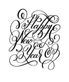 Happy New Year hand lettering congratulate inscription, Christma Stock Image
