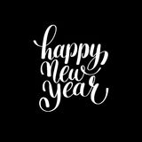 Happy New Year hand lettering congratulate inscription, Christma Stock Images