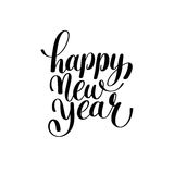 Happy New Year hand lettering congratulate inscription Stock Images