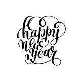 Happy New Year hand lettering congratulate inscription. Christmas greeting card, calligraphy vector illustration stock illustration
