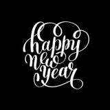 Happy New Year hand lettering congratulate inscription Stock Image