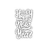 Happy new year 2017 hand-lettering dotwork text . Handmade vector calligraphy for your design Royalty Free Stock Photo