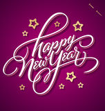 HAPPY NEW YEAR hand lettering (vector) Royalty Free Stock Image