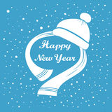 Happy New Year hand lettering. Handmade calligraphy holiday greeting card design. Royalty Free Stock Photo