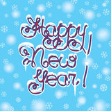 Happy New Year hand lettering Royalty Free Stock Photos