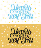 Happy New Year hand-lettering text. Handmade vector calligraphy collection Royalty Free Stock Image