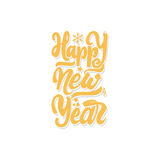 Happy new year 2017 hand-lettering text . Handmade vector calligraphy for your design. Happy new year 2017- Badge drawn by hand, using the skills of calligraphy Royalty Free Stock Image