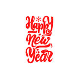 Happy new year 2017 hand-lettering text . Handmade vector calligraphy for your design. Happy new year 2017- Badge drawn by hand, using the skills of calligraphy Stock Images