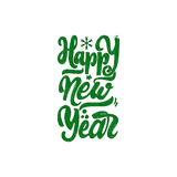 Happy new year 2017 hand-lettering text . Handmade vector calligraphy for your design Royalty Free Stock Images