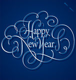 Happy New Year hand lettering (vector) Stock Image