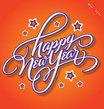 HAPPY NEW YEAR hand lettering (vector) Stock Images