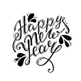 Happy new year Hand lettering vector. Calligraphy design Royalty Free Illustration