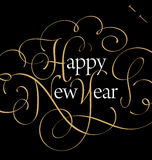 HAPPY NEW YEAR hand lettering (vector) Stock Photography
