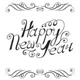 Happy New Year hand lettering. Vector illustration Stock Image