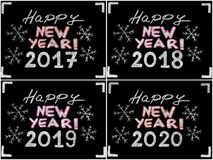 Happy new year 2017, 2018, 2019, 2020 Stock Photography