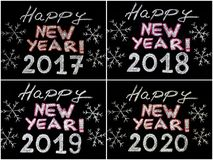 Happy new year 2017, 2018, 2019, 2020 Stock Photos